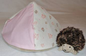 Pink with Hedgehogs